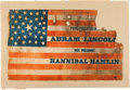 Political:Textile Display (pre-1896), Abraham Lincoln: Large Parade Flag....