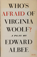 Books:Literature 1900-up, Edward Albee. INSCRIBED. Who's Afraid of Virginia Woolf?Atheneum, 1963. Third printing. Signed and inscribed by t...