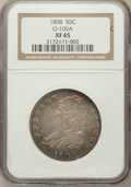 Bust Half Dollars, 1808 50C O-109A XF45 NGC. NGC Census: (59/253). PCGS Population(63/264). Mintage: 1,368,600. Numismedia Wsl. Price for pro...