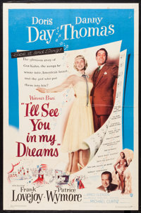 """I'll See You in My Dreams (Warner Brothers, 1952). One Sheet (27"""" X 41"""") and Lobby Cards (5) (11"""" X 14&qu..."""