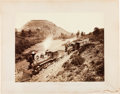 "Photography:Studio Portraits, William Henry Jackson, Photographer: Mammoth Plate Albumen Train Photo ""Veta Pass"", 1881...."