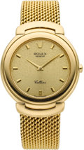 Timepieces:Wristwatch, Rolex Ref. 6623 Gent's Gold Cellini. ...