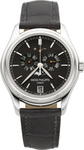 Timepieces:Wristwatch, Patek Philippe Ref. 5146P-001 Very Fine & Rare Platinum AnnualCalendar With Moon Phases & Power Reserve Indication. ...