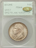Commemorative Silver: , 1937 50C Boone MS66 PCGS. Gold CAC. PCGS Population (387/80). NGCCensus: (261/53). Mintage: 9,810. Numismedia Wsl. Price f...