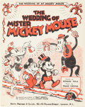 Memorabilia:Disney, The Wedding of Mister Mickey Mouse Sheet Music (Keith Prowse & Co. Ltd., 1933)....