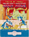 Memorabilia:Disney, Folio of Songs From Walt Disney's Famous Pictures Mickey Mouse Silly Symphony Volume II Sheet Music Book (Irving Berlin Inc., ...