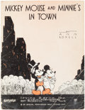 """Memorabilia:Disney, """"Mickey Mouse and Minnie's In Town"""" Sheet Music (Irving Berlin Inc., 1933)...."""