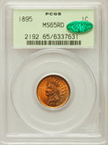 Indian Cents: , 1895 1C MS65 Red PCGS. CAC. PCGS Population (121/40). NGC Census:(92/41). Mintage: 38,343,636. Numismedia Wsl. Price for p...