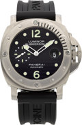 Timepieces:Wristwatch, Panerai Luminor Submersible PAM00025 Limited Edition Titanium Automatic, OP 6639, No. 185/500. ...