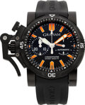 Timepieces:Wristwatch, Graham Chronofighter Oversize Diver Automatic No. 074 PVD CoatedStainless Steel Wristwatch. ...