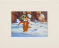 Animation Art:Production Cel, Yogi Bear Animation Cel and Background Original Art (Hanna-Barbera,c. 1970s-80s)....