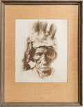 American Indian Art:Photographs, A PORTRAIT OF A NATIVE AMERICAN MAN...