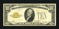 Small Size:Gold Certificates, Fr. 2400 $10 1928 Gold Certificate. Fine+.. This note certainly does face up well and is replete with solid margins....