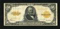 Large Size:Gold Certificates, Fr. 1200 $50 1922 Gold Certificate Fine-Very Fine. This example wasonce graded Very Fine 20 by CGA. The surfaces have j...