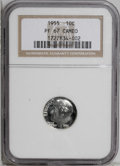 Proof Roosevelt Dimes: , 1955 10C PR67 Cameo NGC. NGC Census: (108/169). PCGS Population(140/44). (#85230)...