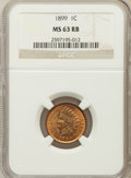 Indian Cents: , 1899 1C MS63 Red and Brown NGC. NGC Census: (64/494). PCGSPopulation (185/690). Mintage: 53,600,032. Numismedia Wsl. Price...