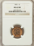 Indian Cents: , 1892 1C MS62 Red and Brown NGC. NGC Census: (15/297). PCGSPopulation (9/313). Mintage: 37,649,832. Numismedia Wsl. Price f...