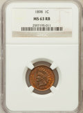 Indian Cents: , 1898 1C MS63 Red and Brown NGC. NGC Census: (68/333). PCGSPopulation (110/341). Mintage: 49,823,080. Numismedia Wsl. Price...