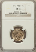 Buffalo Nickels: , 1913 5C Type One MS65 NGC. NGC Census: (2362/1502). PCGS Population(3224/2214). Mintage: 30,993,520. Numismedia Wsl. Price...