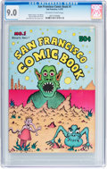 Bronze Age (1970-1979):Alternative/Underground, San Francisco Comic Book #1 (Print Mint, 1970) CGC VF/NM 9.0 Off-white to white pages....