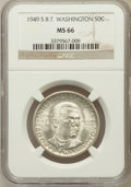 Commemorative Silver: , 1949-S 50C Booker T. Washington MS66 NGC. NGC Census: (353/57).PCGS Population (414/28). Mintage: 6,004. Numismedia Wsl. P...