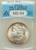 Morgan Dollars, 1901-O $1 Super CD Early Die State MS64 ANACS. Vam-1A. NGC Census:(16326/5043). PCGS Population (11375/3125). Mintage: 13,...