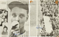 Baseball Collectibles:Photos, 1962 Roger Maris Twice Signed Page. ...