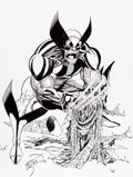 Original Comic Art:Covers, Erik Larsen Wizard: The Comics Magazine #3 Wolverine CoverOriginal Art (Wizard, 1991)....