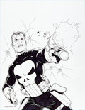 Original Comic Art:Covers, Steve Dillon Wizard: The Comics Magazine #101 AlternateUnused Cover Original Art (Wizard, 2000)....