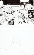 Original Comic Art:Splash Pages, Tim Sale Batman: Dark Victory Splash Original Art (DC, c.2000).... (Total: 4 Items)