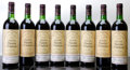 Red Bordeaux, Chateau Gloria 1983 . St. Julien. 6ts, 2vhs, 2lbsl, 2lwasl,6lcc, 1nc, different importers. Bottle (8). ... (Total: 8 Btls. )