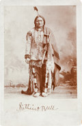 American Indian Art:Photographs, SITTING BULL, CABINET CARD BY PALMQUIST AND JURGENS...