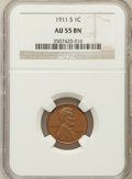 Lincoln Cents: , 1911-S 1C AU55 NGC. NGC Census: (37/207). PCGS Population (60/292).Mintage: 4,026,000. Numismedia Wsl. Price for problem f...