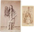 American Indian Art:Photographs, A CARTE-DE-VISITE AND A CABINET CARD OF UTE INDIANS BY WILLIAMGUNNISON CHAMBERLIN... (Total: 2 Items)