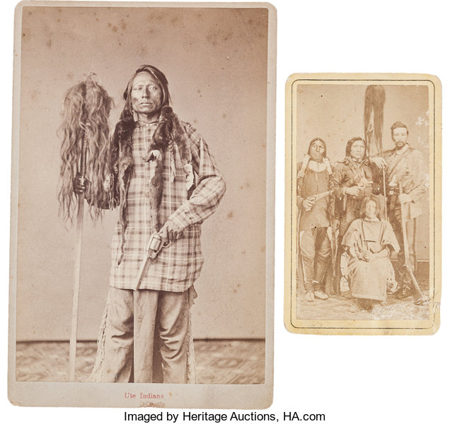 American Indian ArtPhotographs A CARTE DE VISITE AND CABINET CARD