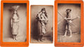 American Indian Art:Photographs, ONE CABINET CARD AND TWO BOUDOIR PHOTOS OF YUMA INDIANS BY E. A.BONINE ... (Total: 3 Items)