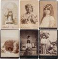 American Indian Art:Photographs, SIX ARIZONA INDIAN CABINET CARDS BY F. A. HARTWELL... (Total: 6Items)