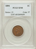Indian Cents: , 1894 1C XF40 PCGS. PCGS Population (18/191). NGC Census: (4/251).Mintage: 16,752,132. Numismedia Wsl. Price for problem fr...