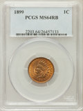 Indian Cents: , 1899 1C MS64 Red and Brown PCGS. PCGS Population (561/129). NGCCensus: (271/223). Mintage: 53,600,032. Numismedia Wsl. Pri...