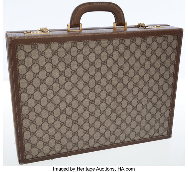 05d3ec3c2 Luxury Accessories:Bags, Gucci Classic Monogram GG Canvas Briefcase Bag.
