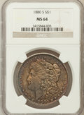 Morgan Dollars: , 1880-S $1 MS64 NGC. NGC Census: (51631/46108). PCGS Population(53015/44393). Mintage: 8,900,000. Numismedia Wsl. Price for...