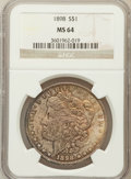 Morgan Dollars: , 1898 $1 MS64 NGC. NGC Census: (7946/3067). PCGS Population(5781/2763). Mintage: 5,884,735. Numismedia Wsl. Price for probl...