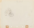 "Animation Art:Production Drawing, Snow White and the Seven Dwarfs ""Sneezy"" AnimationProduction Drawing Original Art (Walt Disney, 1937)...."