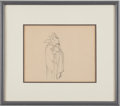 "Animation Art:Production Drawing, The Goddess of Spring ""King of the Underworld"" AnimationProduction Drawing Original Art (Walt Disney, 1934)...."