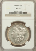 Morgan Dollars: , 1884-S $1 AU53 NGC. NGC Census: (991/3406). PCGS Population(985/2491). Mintage: 3,200,000. Numismedia Wsl. Price for probl...