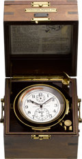 Timepieces:Other , Hamilton Model 21 Naval Ships Chronometer, circa 1941. ...