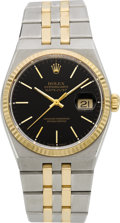 Timepieces:Wristwatch, Rolex Ref. 17013 Steel & Gold Oysterquartz Datejust, circa 1991. ...