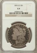 Morgan Dollars: , 1893-CC $1 Good 4 NGC. NGC Census: (96/3184). PCGS Population(71/5703). Mintage: 677,000. Numismedia Wsl. Price for proble...