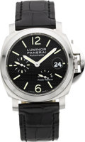 Timepieces:Wristwatch, Panerai PAM00241 Luminor Automatic With Power Reserve No. 232/500. ...