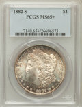 Morgan Dollars, 1882-S $1 MS65+ PCGS. PCGS Population (16701/5200). NGC Census:(17739/7915). Mintage: 9,250,000. Numismedia Wsl. Price for...